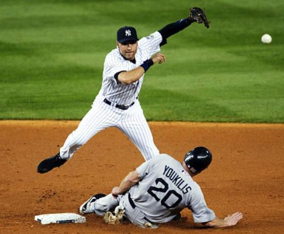 Derek Jeter was known for his big postseason moments, but was a solid player throughout the grind of the regular season as well. Jeter won five Gold Gloves and five Silver Slugger awards. Mandatory Image Credit: sportsunbiased.com
