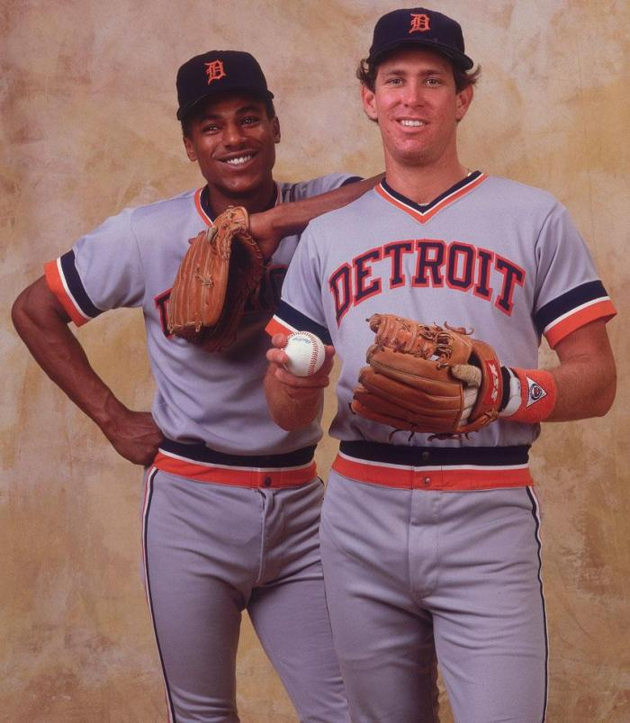 Alan  Trammell and Lou  Whitaker formed the Detroit Tigers' middle infield from 1977 through 1995, including during the World Championship 1984 season. Mandatory Image Credit: Sports Illustrated