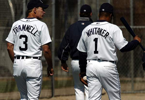 Trammell and Whitaker live on in the memories of Tigers fans, but strangely, the franchise has still not retired their numbers 1 and 3. Mandatory Image Credit: Detroit News
