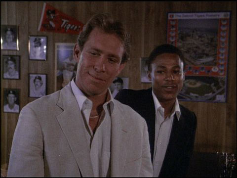 Alan  Trammell and Lou  Whitaker appear together on Magnum, PI during the 1983 season.  Mandatory Image Credit: magnum-mania.com
