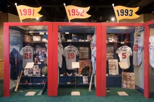 The 14-year title run, which began 25 years ago, is featured in the Braves Museum