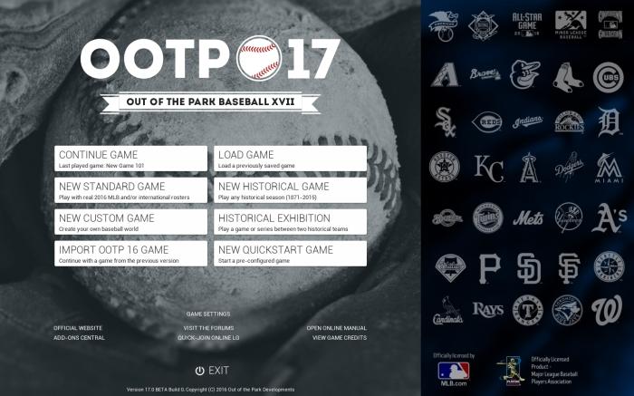 Mandatory Credit: Out of the Park Baseball